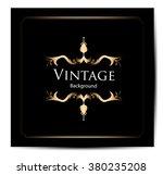 invitation vintage card | Shutterstock .eps vector #380235208