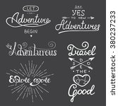 set of adventure and travel... | Shutterstock .eps vector #380237233