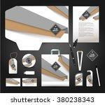 stationery design identity... | Shutterstock .eps vector #380238343