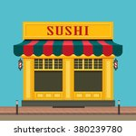 vector illustration city street ... | Shutterstock .eps vector #380239780
