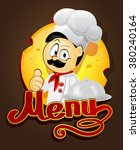 chief cook design vector menu | Shutterstock .eps vector #380240164