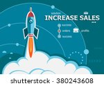 increase sales design and... | Shutterstock .eps vector #380243608