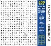 medicine icons set. | Shutterstock .eps vector #380244766