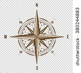 vector compass. high quality... | Shutterstock .eps vector #380244883