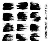 black big textured strokes set...   Shutterstock .eps vector #380245513