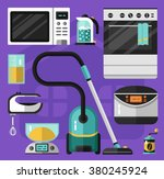 vector flat icons set of... | Shutterstock .eps vector #380245924