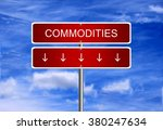 commodity price investment... | Shutterstock . vector #380247634