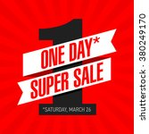 one day super sale banner. one... | Shutterstock .eps vector #380249170