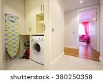 laundry room at the home | Shutterstock . vector #380250358