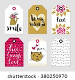 romantic tags collection.... | Shutterstock .eps vector #380250970