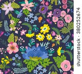 awesome floral pattern of... | Shutterstock .eps vector #380252674