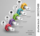 3d steps increase data business ...   Shutterstock .eps vector #380255488