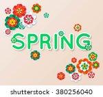 spring banner. vector eps 10. | Shutterstock .eps vector #380256040
