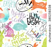 easter vector pattern with... | Shutterstock .eps vector #380258338