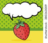 fruits strawberry doodle ...   Shutterstock .eps vector #380263009