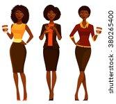 elegant african american women... | Shutterstock .eps vector #380265400
