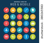 universal web icons set for web ... | Shutterstock .eps vector #380265583