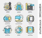 modern flat color line designed ... | Shutterstock .eps vector #380266804