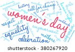 women's day word cloud on a...   Shutterstock .eps vector #380267920