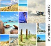summer beach mosaic   a... | Shutterstock . vector #380268550