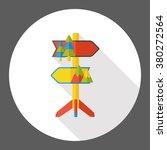 travel signpost flat icon   Shutterstock .eps vector #380272564