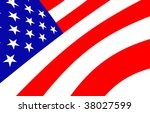 american flag design | Shutterstock . vector #38027599