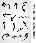 hand drawn arrows  vector set | Shutterstock .eps vector #380280460