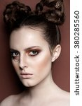 art make up. beauty fashion... | Shutterstock . vector #380285560