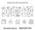 vector line design concept web... | Shutterstock .eps vector #380285704
