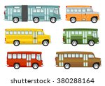 cartoon buses on the white... | Shutterstock .eps vector #380288164