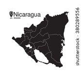 nicaragua map regions | Shutterstock .eps vector #380289556