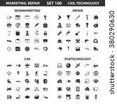 marketing icons set. | Shutterstock .eps vector #380290630