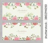 cute floral invitation cards... | Shutterstock .eps vector #380294050
