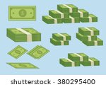 money bills   Shutterstock .eps vector #380295400