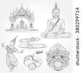 illustration of vector set of... | Shutterstock .eps vector #380299714