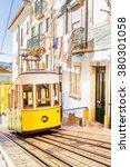 lisbon's gloria funicular... | Shutterstock . vector #380301058