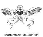 vector sketch illustration with ... | Shutterstock .eps vector #380304784