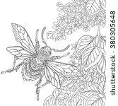 zentangle stylized cartoon... | Shutterstock .eps vector #380305648