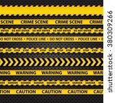 vector set of seamless caution... | Shutterstock .eps vector #380309266