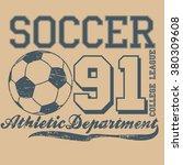 soccer sport tee  print design  ... | Shutterstock .eps vector #380309608