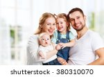 happy family mother  father and ... | Shutterstock . vector #380310070