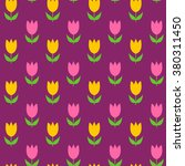 colorful tulips seamless... | Shutterstock .eps vector #380311450