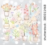 collection of doodle sketch... | Shutterstock .eps vector #380311468