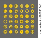 abstract icon set of machine... | Shutterstock .eps vector #380311660