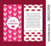 love forever pink flyer... | Shutterstock .eps vector #380312500