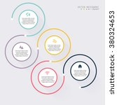 vector colorful info graphics... | Shutterstock .eps vector #380324653