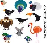 family of volatile animals.... | Shutterstock .eps vector #38032522
