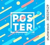 material dynamic design poster. ... | Shutterstock .eps vector #380329129