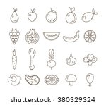 a big collection of black and... | Shutterstock .eps vector #380329324