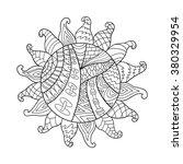 zentangle sun vector symbol...   Shutterstock .eps vector #380329954